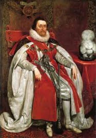 James I becomes King of England