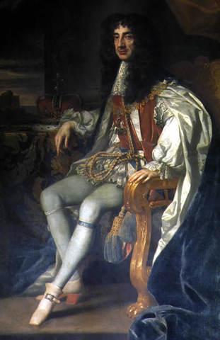 Charles II restored to English throne