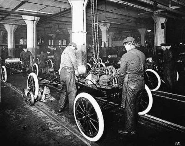 Henry Ford introduced the assembly line