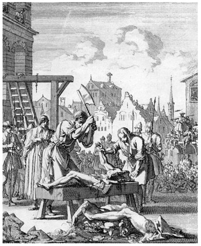 Edmund Campion, an English Jesuit, was hanged, drawn and quartered for sedition after being tortured