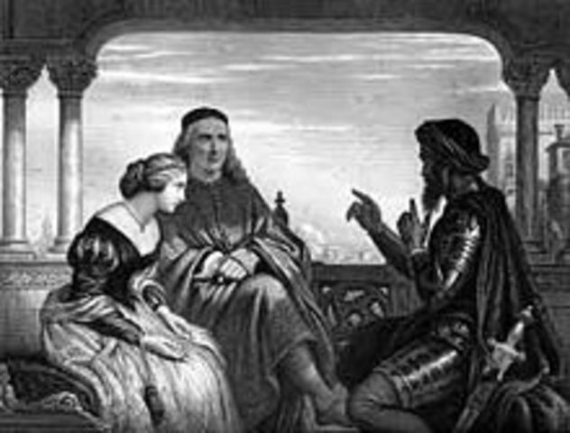 William Shakespeare's Othello was first presented at Whitehall Palace