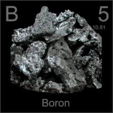 Discovery of element 5 - Boron
