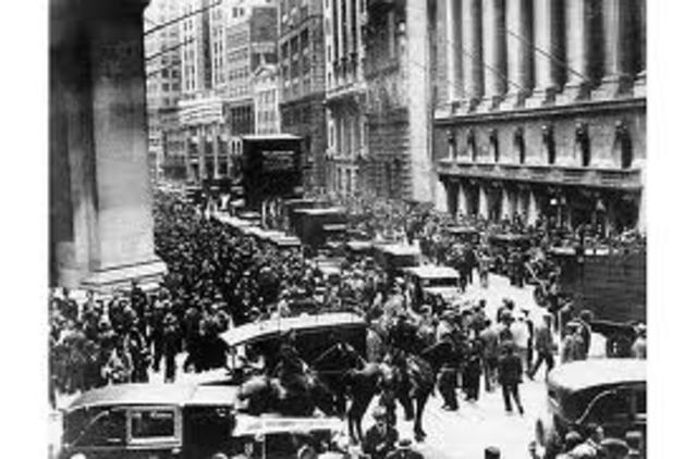 Black Tuesday Begins The Great Depression