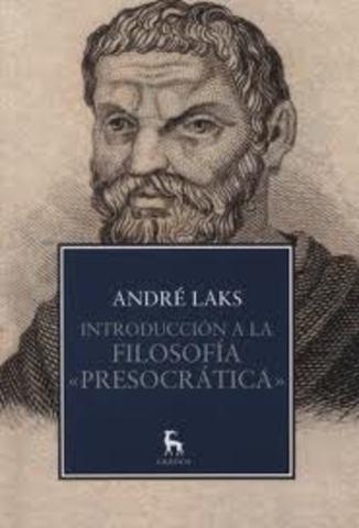 Historia de la Filosofia presocratica (585-444 a.C)