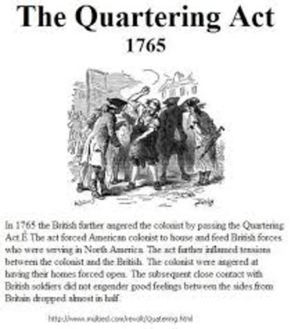 British Action; Quartering Act