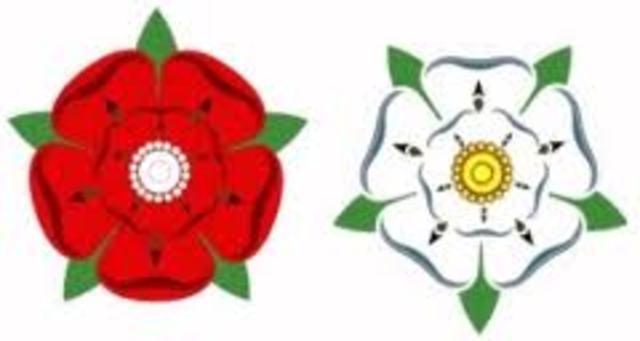 Estalla en Inglaterra la guerra de las Dos Rosas, entre la casa de Lancaster y la casa de York.