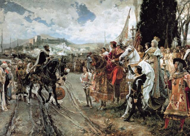 Fernando e Isabel conquistan Granada.