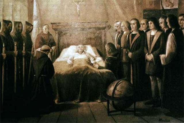 Muerte de Cristóbal Colón.