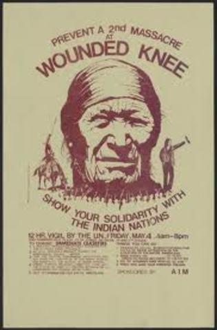 American Indian Movement (AIM)  siege