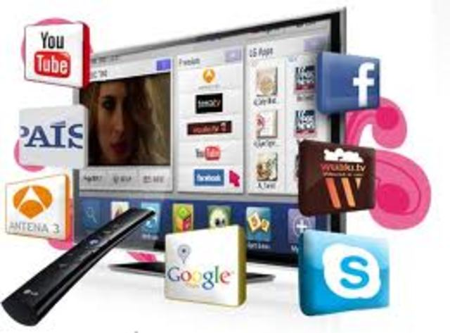 Comienzan a crear los televisores inteligentes o Smart TV.