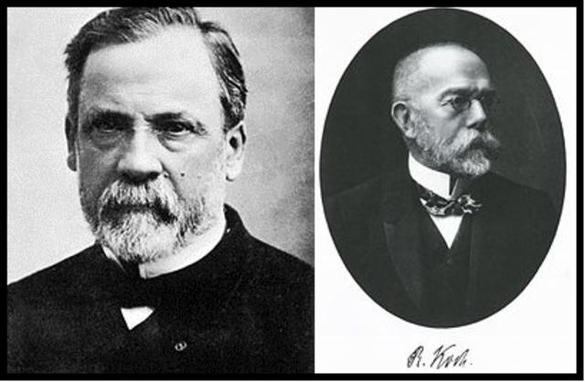 Louis Pasteur y Robert Koch