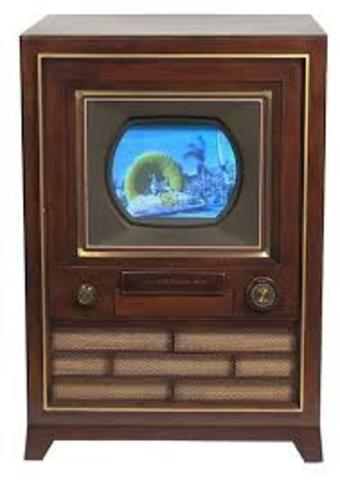 First colored TV