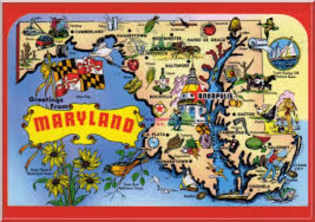 Se funda la colonia de Maryland en América del Norte.