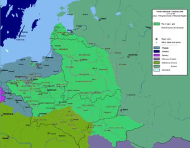 primera particion del territotio polaco