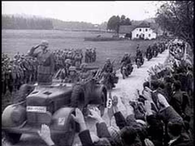 Hitler demands the entire Sudetenland