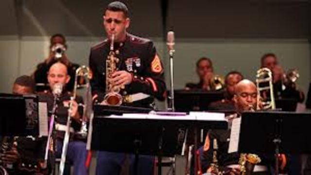 The U.S. Marine band records Joplin's Maple Leaf Rag.