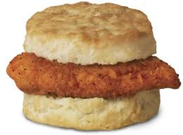 Introduces the Spicy Chicken Biscuit and multigrain Oatmeal for breakfast