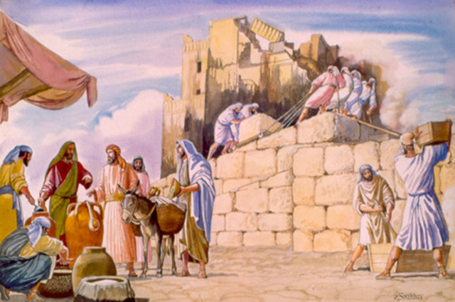 King Cyrus rebuilds Jerusalem - 515 BC