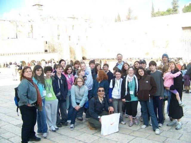 Ronen's school trip to Israel.