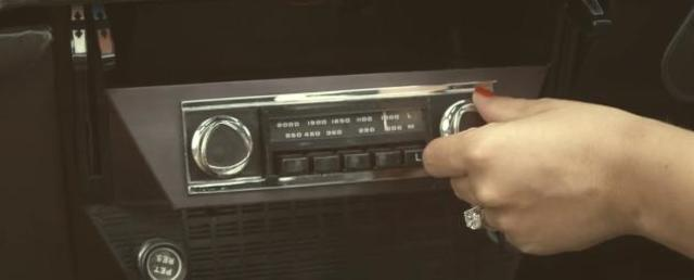 The cars stereo as another prop