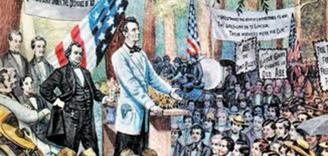 First Lincoln - Douglas Debates