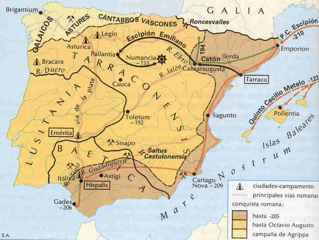 Conquista romana (218 a.C)