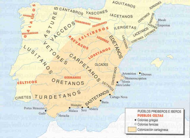 Pueblos prerromanos (1100 a.C)