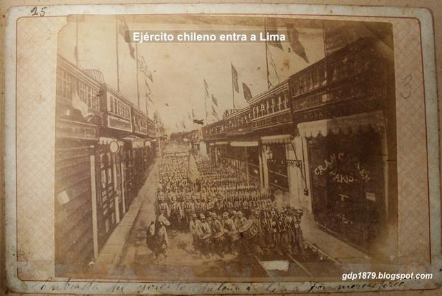 entrada a la lima por las fuerza chilena .