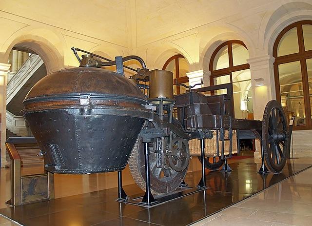 First steam powered car