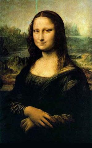 Leonardo paints Mona Lisa