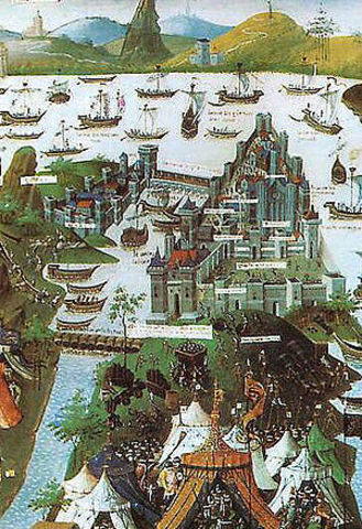 Byzantine capital of Constantinople conquered and renamed Istanbul by the Muslim Ottomans