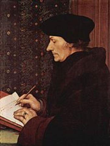 Erasmus writes praise of folly