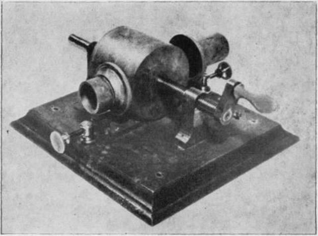 Tin foil - Wax cylinder Phonograph