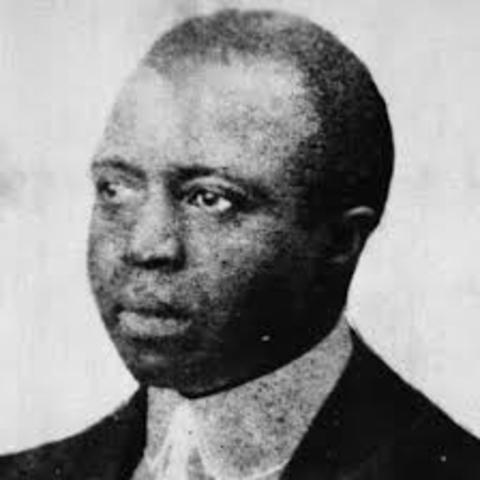 Scott Joplin dies.
