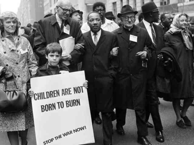 Martin Luther King Speaks Out Against War