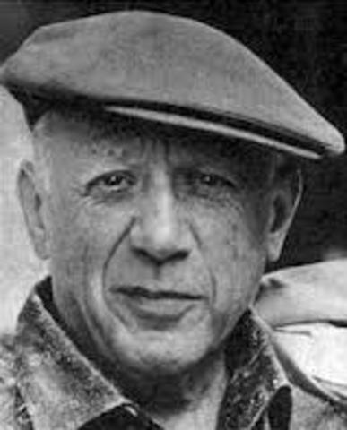Pablo Picasso's first exhibit is held in Paris.