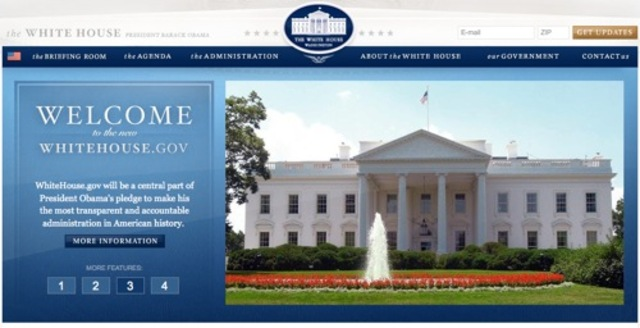 White House's first website