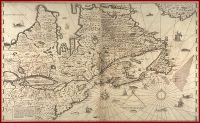 Champlain's 1632 map of New France