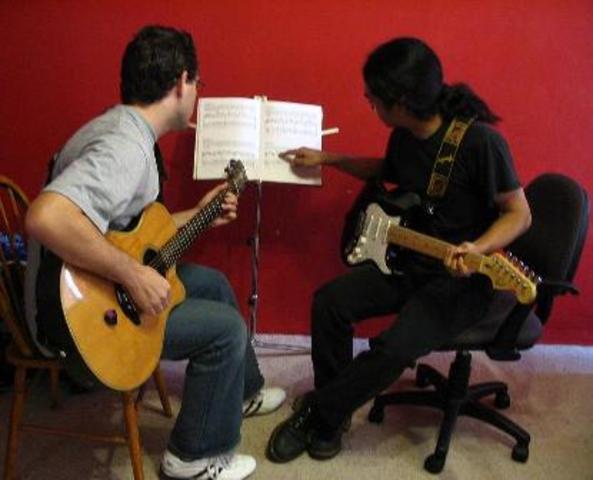 Got a new guitar teacher