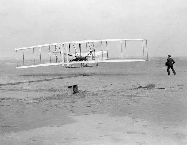The first flight- Wright Brothers