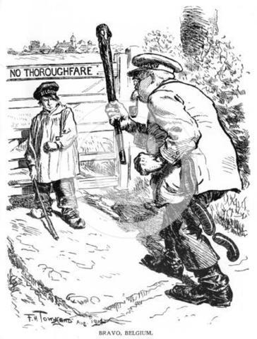 Austria-Hungary declares War on Belgium
