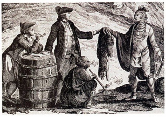 The Fur Trade becomes exceedingly popular (around 1600)