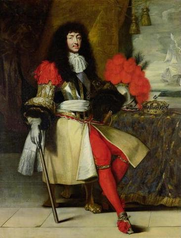 King Louis the 14th takes the throne of France
