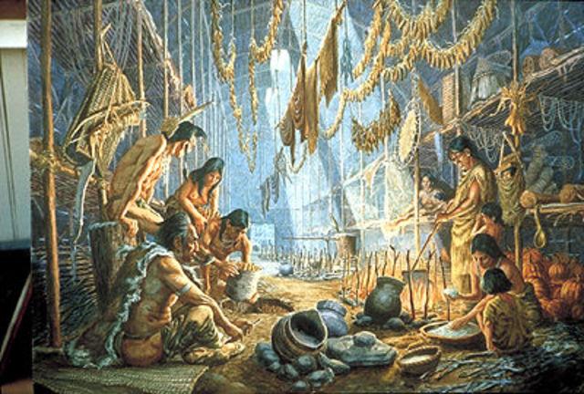 Natives arrive in North America