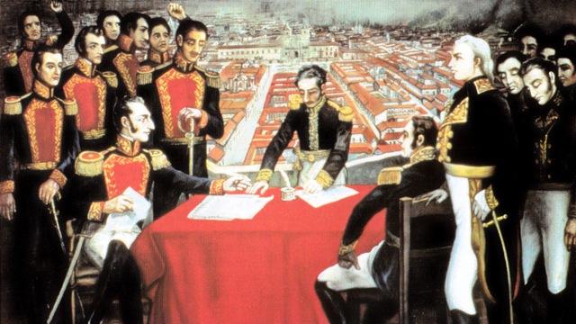armisticio con España, Perú, Bolivia y Ecuador