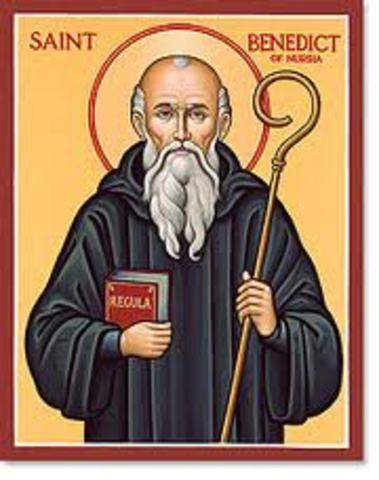 St. Benedict's death.