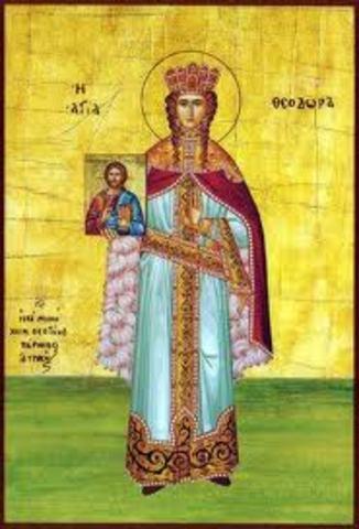 Theodora's death.