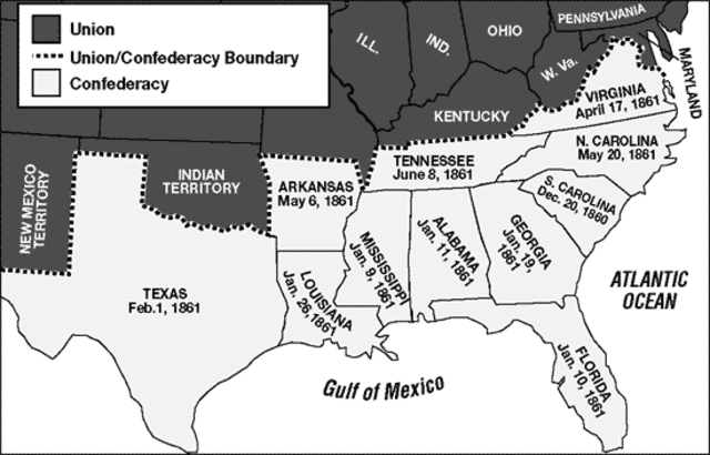 Southern States Secede from the Union