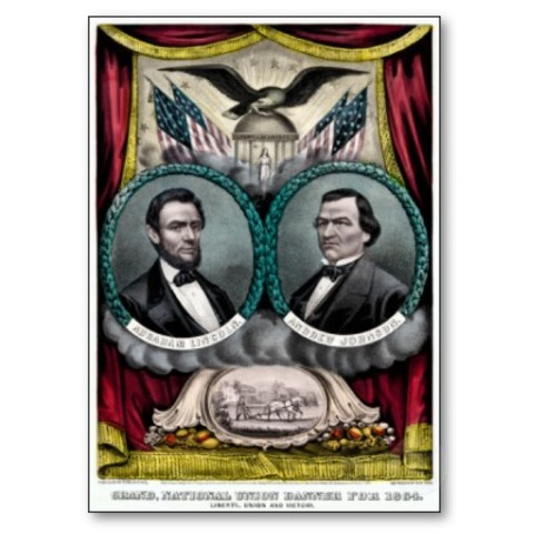 Lincoln re-elected president of the United States