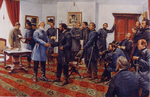 Confederate Army surrenders